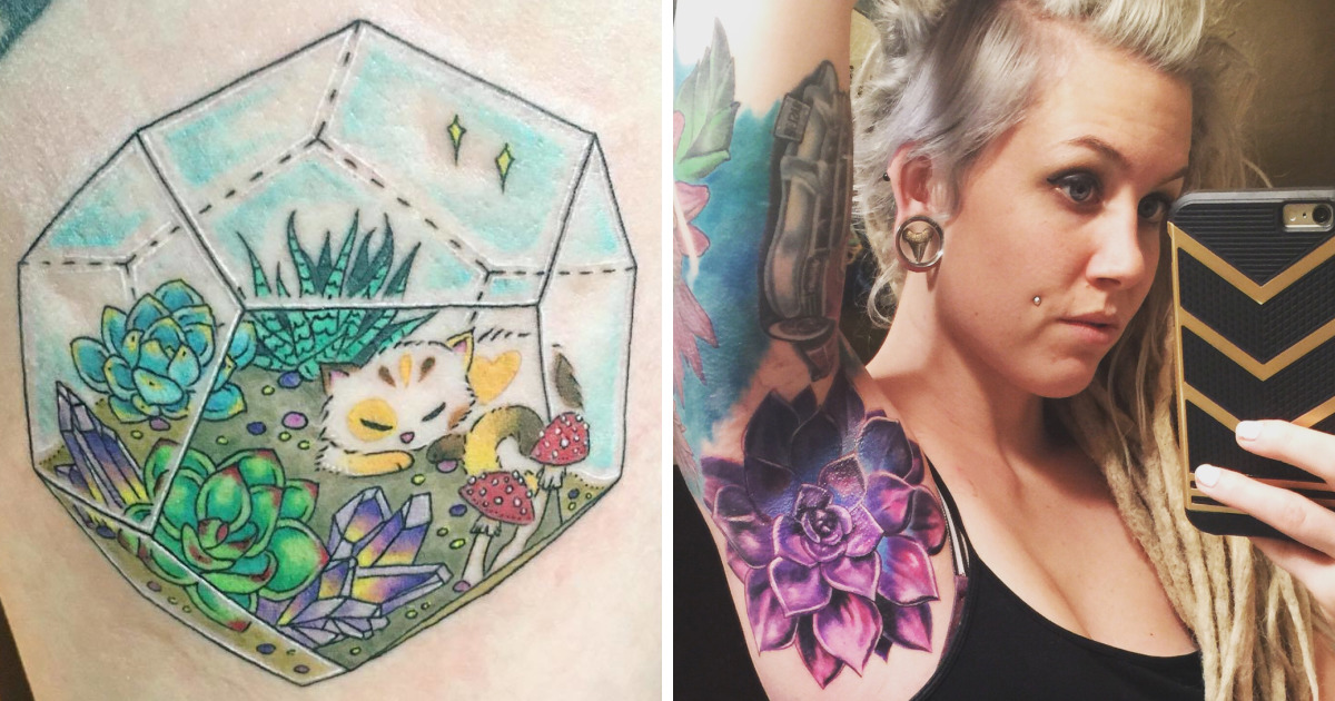 10+ Awesome Succulent Tattoo Ideas For People Who Are