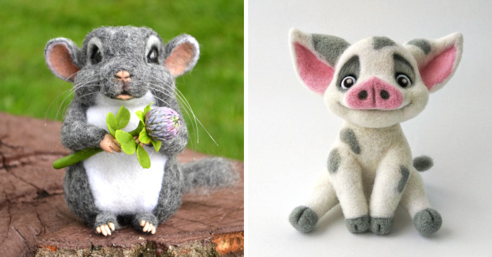 I Make Needle Felted Sculptures From Sheep Wool