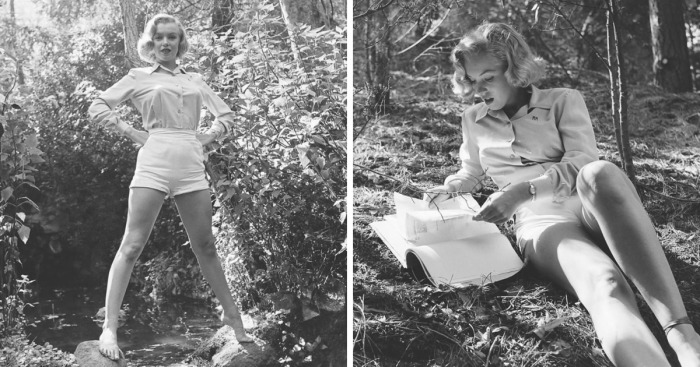 10 Rare Marilyn Monroe Photos In The Woods Before She Became Famous
