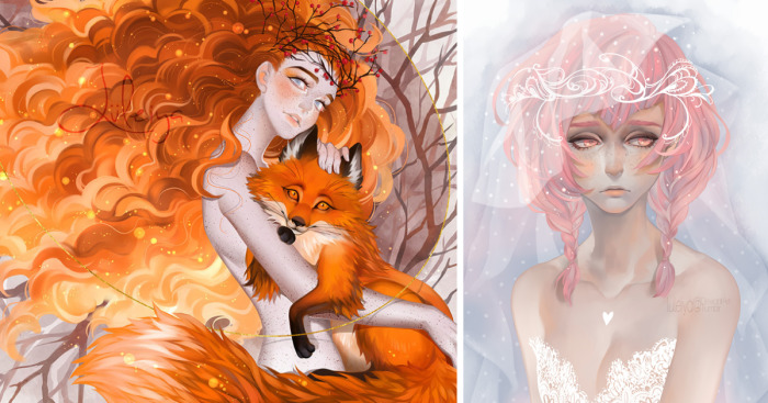 I Create Colorful Digital Illustrations With Fairy Tale Motives