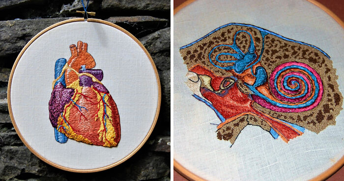 I Started Creating Anatomical Embroidery After I Had An Extensive Facial Surgery