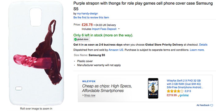 Purple Strapon With Thongs For Role Play Games Cell Phone Cover Case Samsung S5