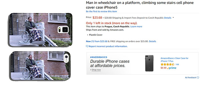 Man In Wheelchair On A Platform, Climbing Some Stairs Cell Phone Cover Case iPhone5