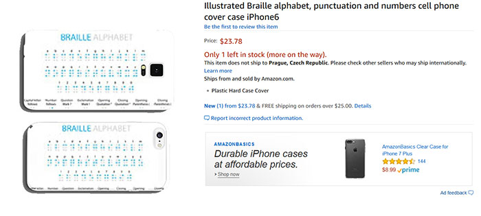 Illustrated Braille Alphabet, Punctuation And Numbers Cell Phone Cover Case iPhone6