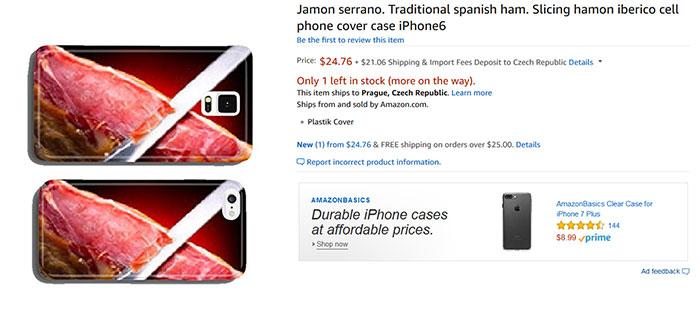 Jamon Serrano. Traditional Spanish Ham. Slicing Hamon Iberico Cell Phone Cover Case iPhone6