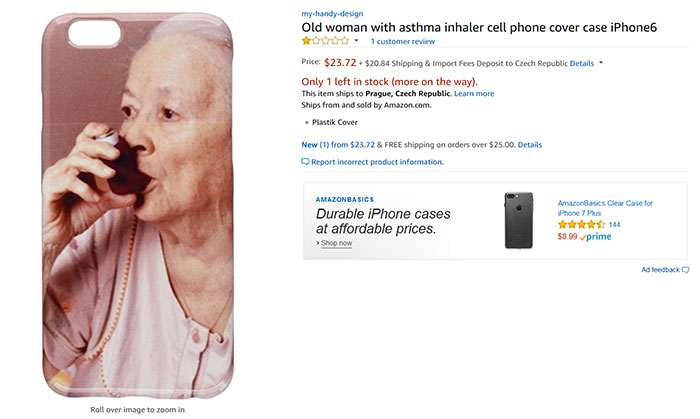 Old Woman With Asthma Inhaler Cell Phone Cover Case iPhone6