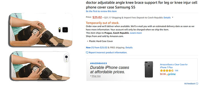 Doctor Adjustable Angle Knee Brace Support For Leg Or Knee Injure Cell Phone Cover Case Samsung S5