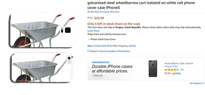 Galvanised Steel Wheelbarrow Cart Isolated On White Cell Phone Cover Case iPhone5