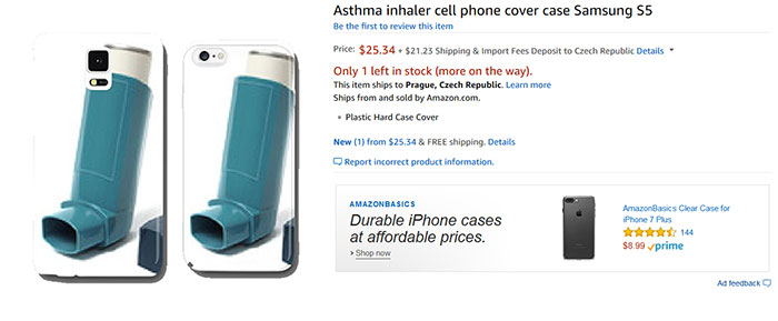 Asthma Inhaler Cell Phone Cover Case Samsung S5