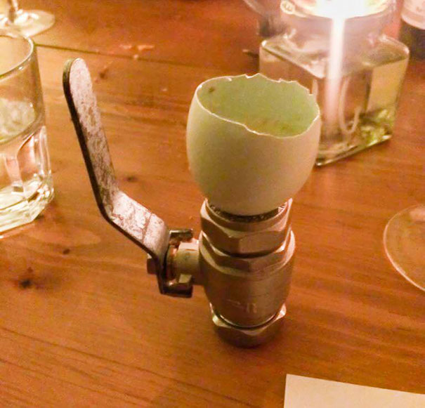 """""""Would You Like Your Egg Boiled, Poached Or Scrambled?"""" """"Boiled And Balanced On A 15mm Isolating Ball Valve, Please."""""""