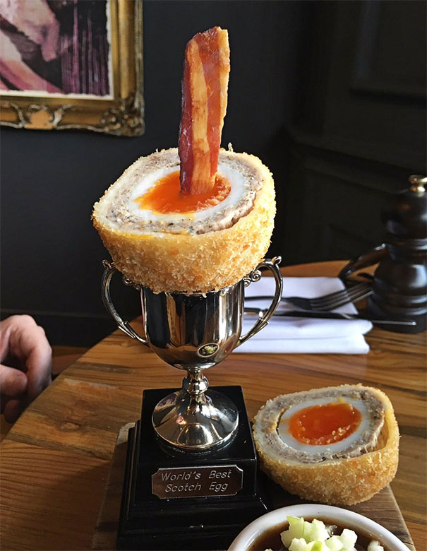 The Guy At The Table Next To Me Has Just Been Served The Most Sensational Scotch Egg. It Comes In A Trophy