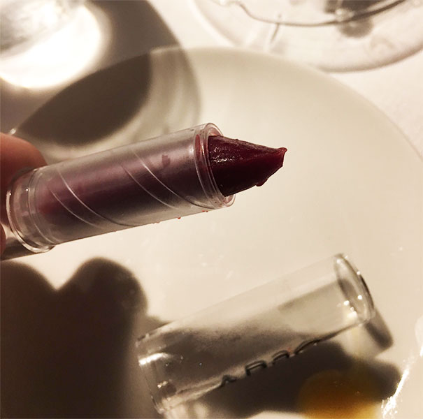 Frozen Beet And Strawberry. In A Tube Of Lipstick
