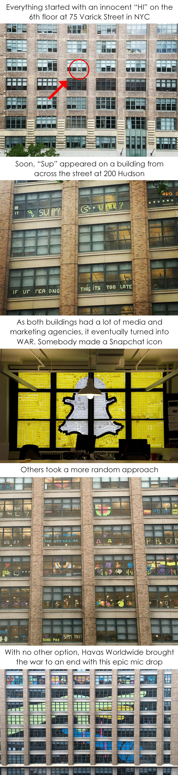 Post-It War Between Two Office Buildings Which Ended With Epic Finale