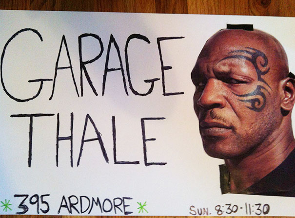 My Roommate Asked Me To Make Signs For Her Garage Sale Tomorrow