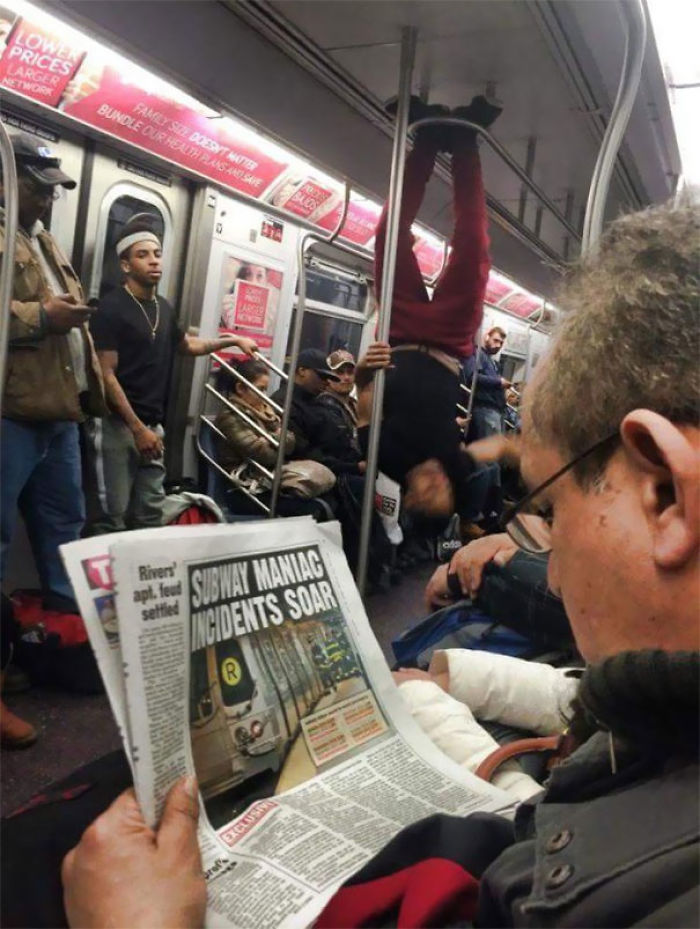 Another Average Day In The NYC Subway