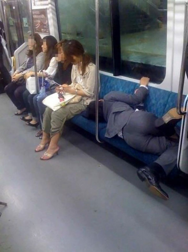 Who Says You Can't Sleep Comfortably On The Subway?