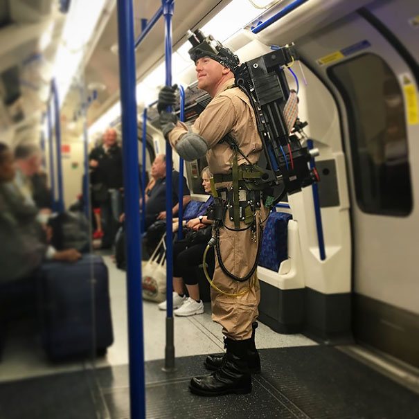 Just Your Average Everyday Ghost Buster On The Subway In London