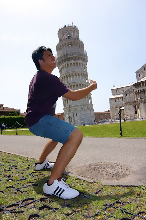 Just Hugging The Tower Of Pisa, Casually