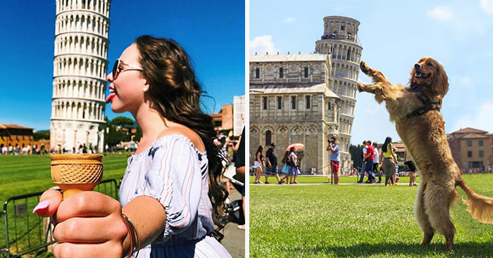 Whoever Said That Posing With The Leaning Tower Of Pisa Was Boring Clearly Hasn't Seen These 10+ Funny Pics