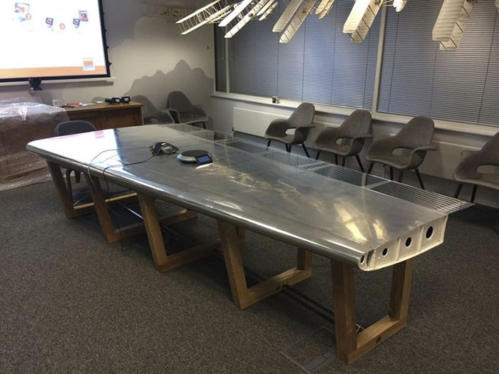 Aircraft Wing Conference Table
