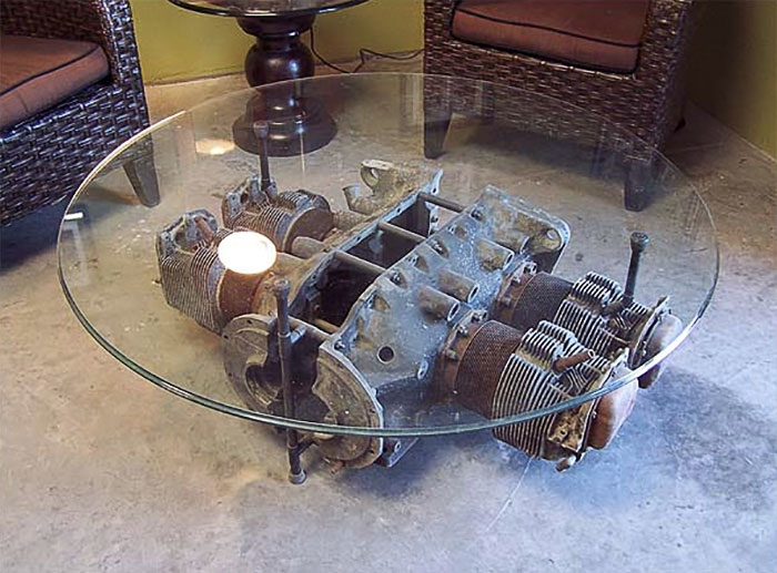Plane Engine Coffee Table