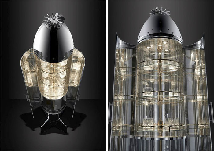 Raf Mk1 Practice Cluster Bomb Drinks Cabinet