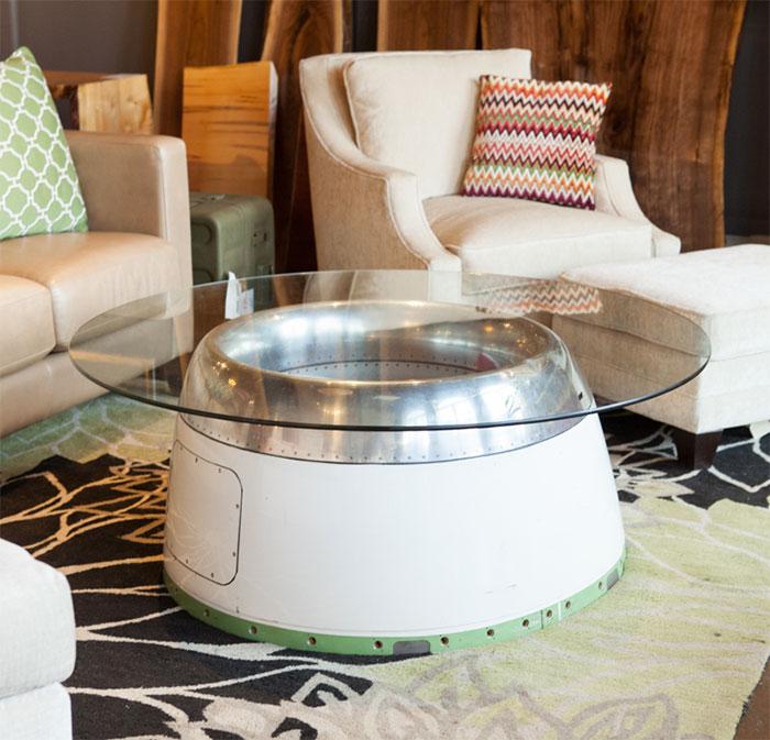 Airplane Cowl Coffee Table