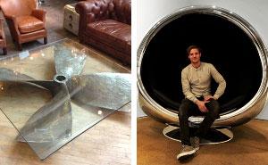 10+ Muebles geniales hechos con partes viejas de aviones