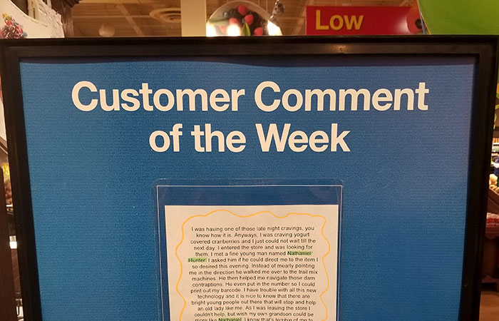 Grandma's Comment About Her Asshole Grandson Goes Viral After Store Displays It For Everyone To See