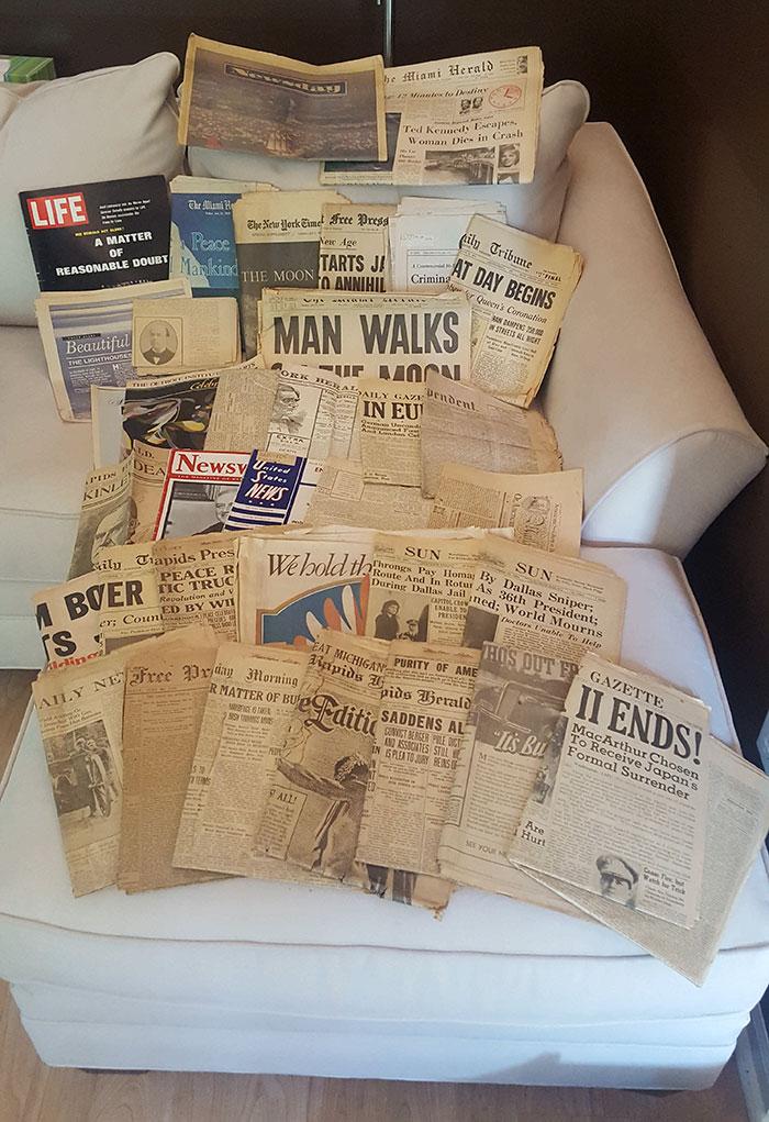 ԱՄՆ-ում կինը հին տուփ է գտել պապիկի սենյակում և «գանձեր» հայտնաբերել դրանում (լուսանկարներ)