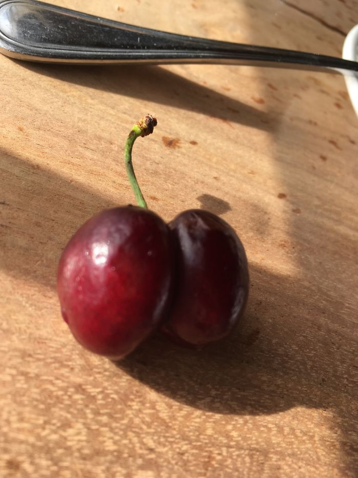 Found A Double Cherry At A Restaurant In San Francisco!!