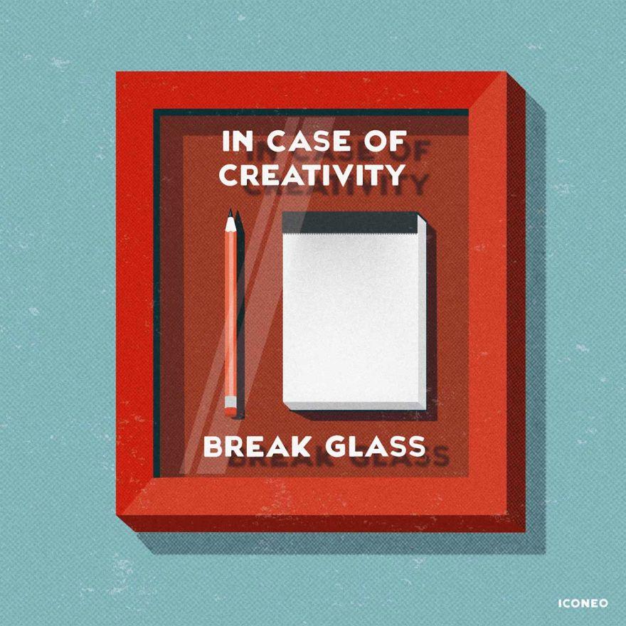In Case Of Creativity Break Glass
