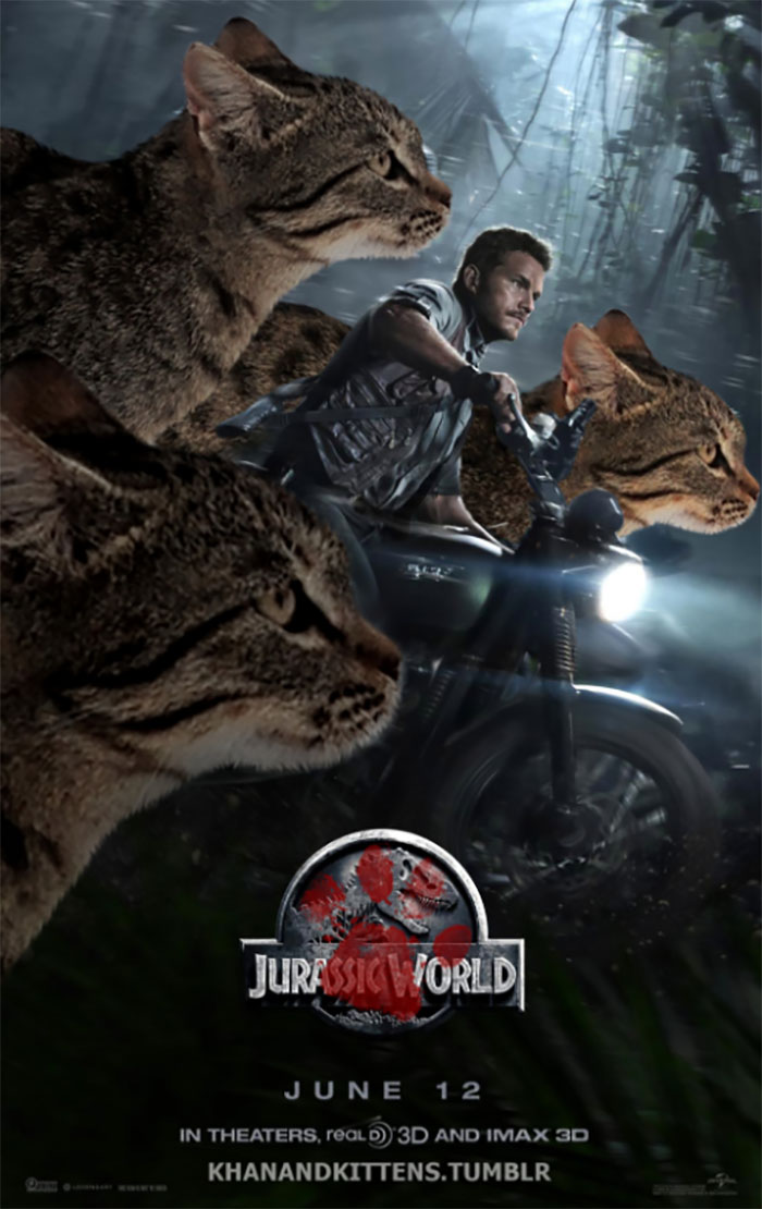 Someone Replaced Jurassic Park Dinosaurs With Cats And Its