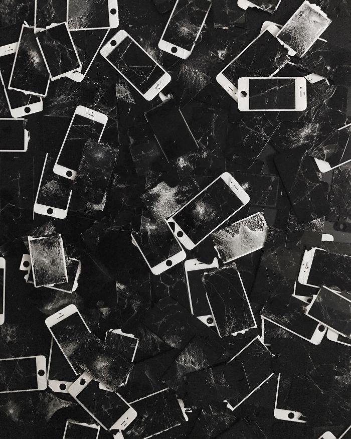 A Girl Who Collected 666 Broken Iphones