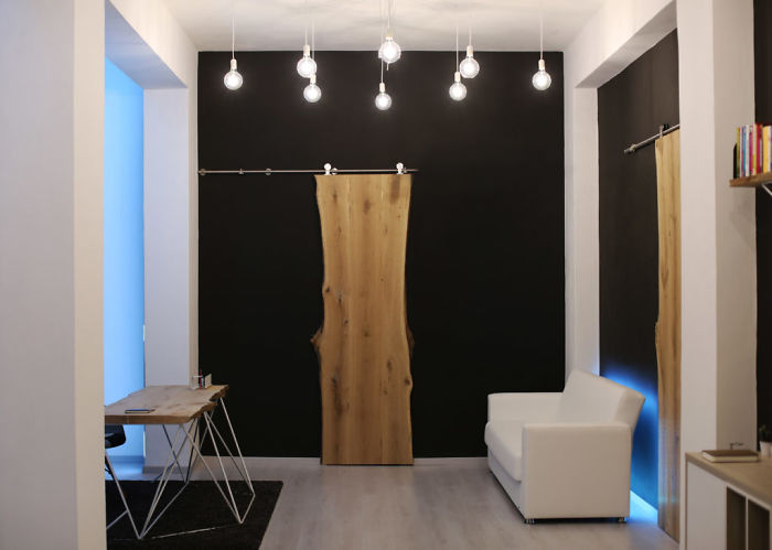 Diy Minimal Design Desks – Sliding Doors – Shelfs In Wood And Metal!