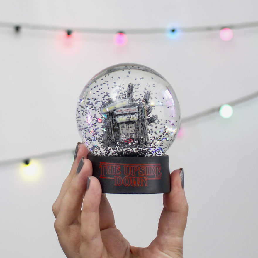 Escape The Wrath Of The Demogorgon With The Upside Down Snow Globe