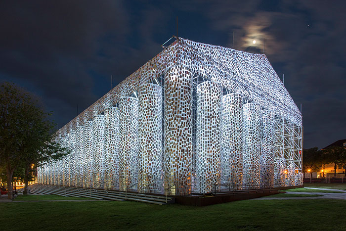 Artist Uses 100,000 Banned Books To Build A Full-Size Parthenon At Historic Nazi Book Burning Site