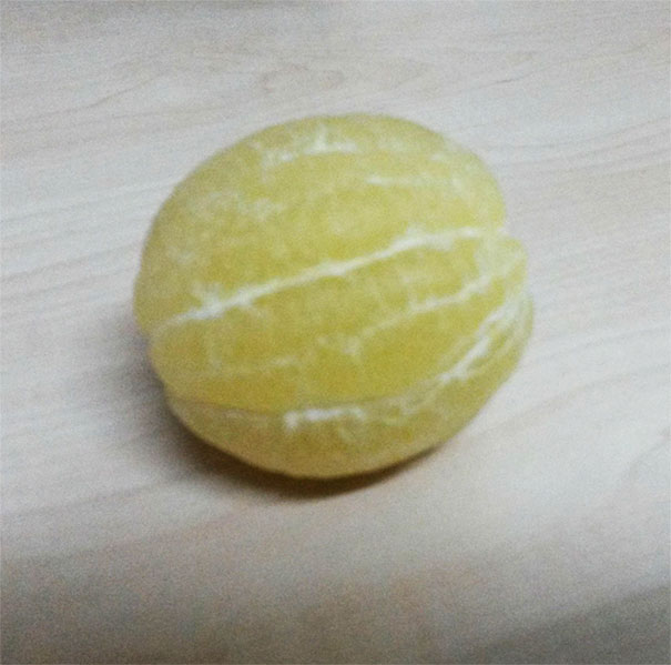 Here'a Peeled Lemon