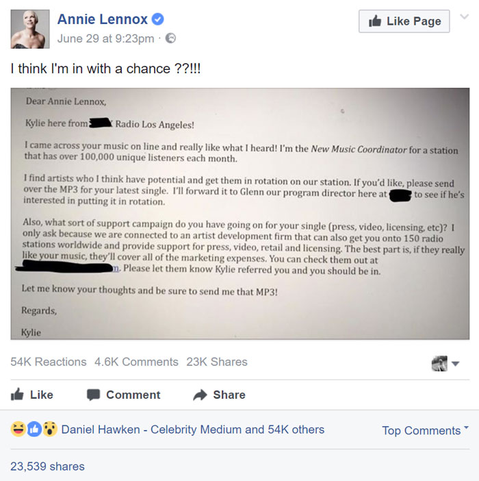 """Talent Scout """"Discovers"""" Annie Lennox, Offers Her A Chance In The Industry"""