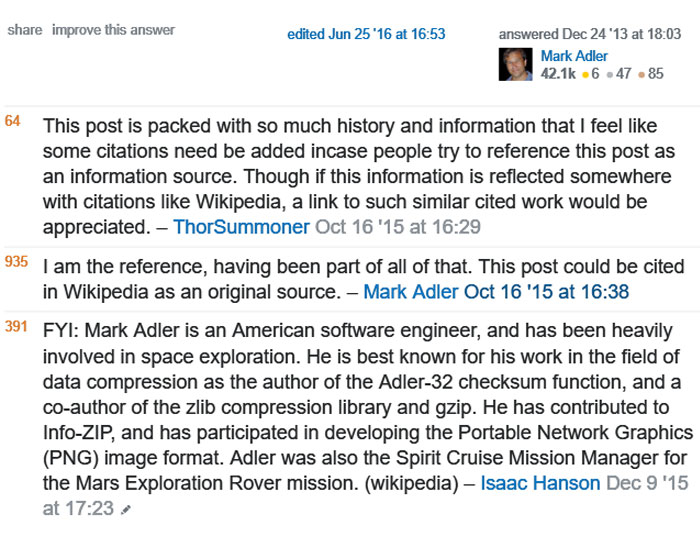 I Am The Reference — Co-Author Of Zlib Gets Asked For Wikipedia References
