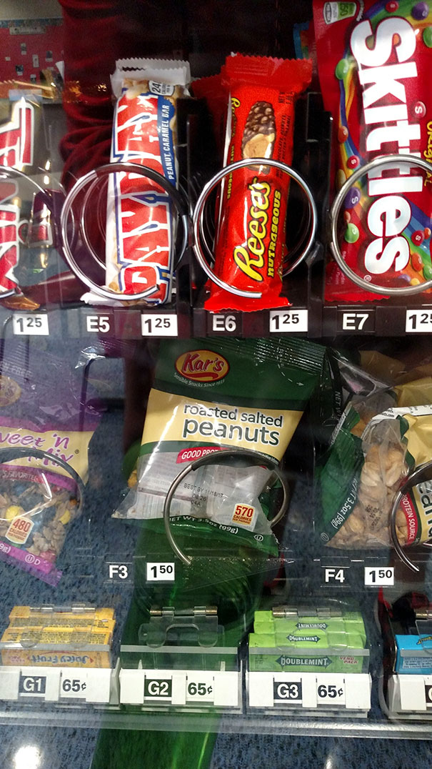 This Vending Machine Is Selling An Empty Bag Of Peanuts