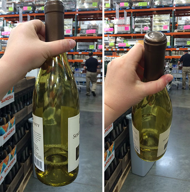 This Still-Sealed Wine At The Store Was Only 1/5 Full