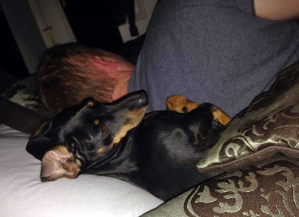 roll over to say good morning to my husband and our little girl