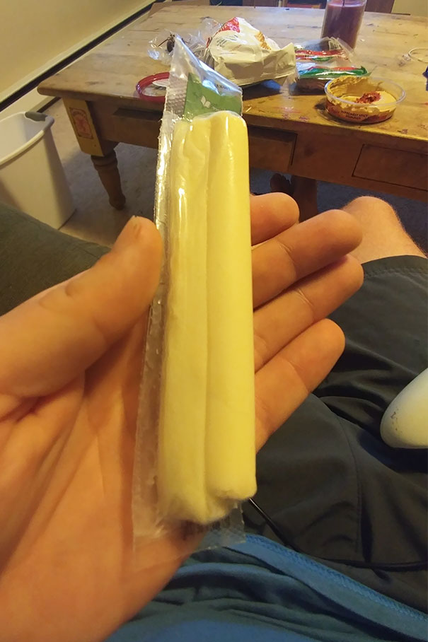 My Cheesestick Has A Twin In The Wrapper