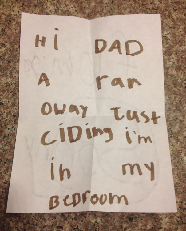 Woke Up To This Note From My 6-Year-Old