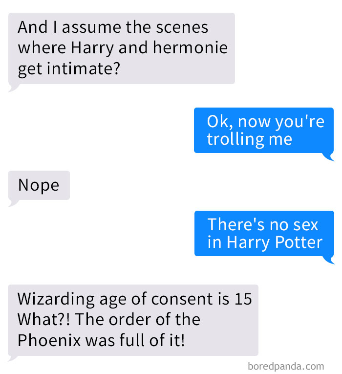 Guy Discovers Hes Been Reading NSFW Harry Potter Fan Fiction Instead