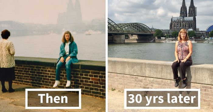 Now And Then Advertising Photograph >> 30 Years Later Same Locations But Different Me Bored Panda