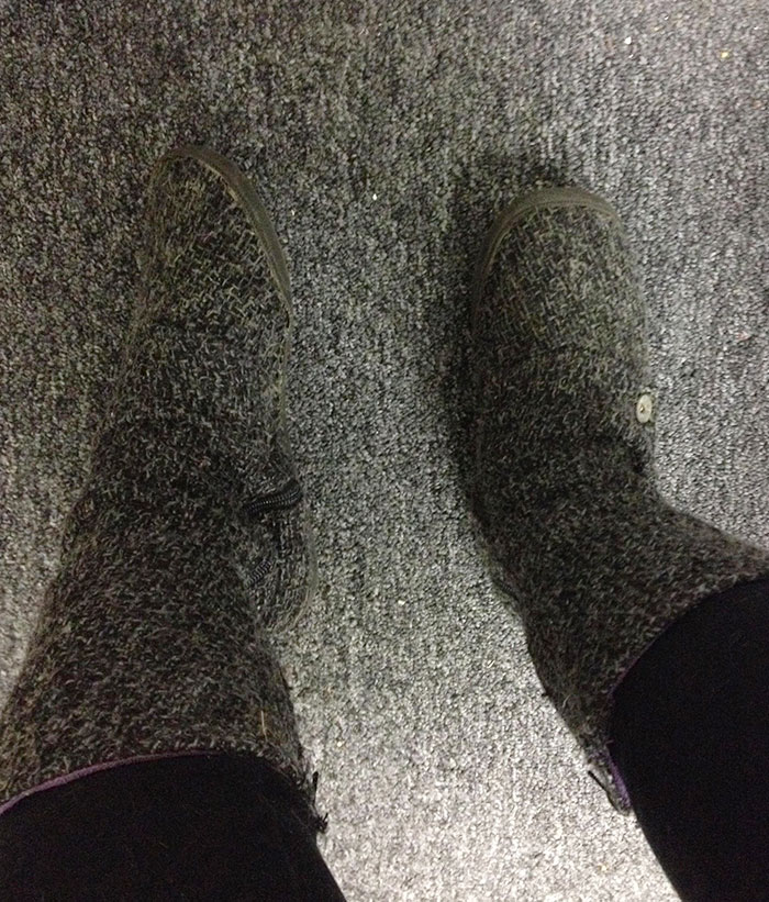 My Boots Match The Carpet In My Office
