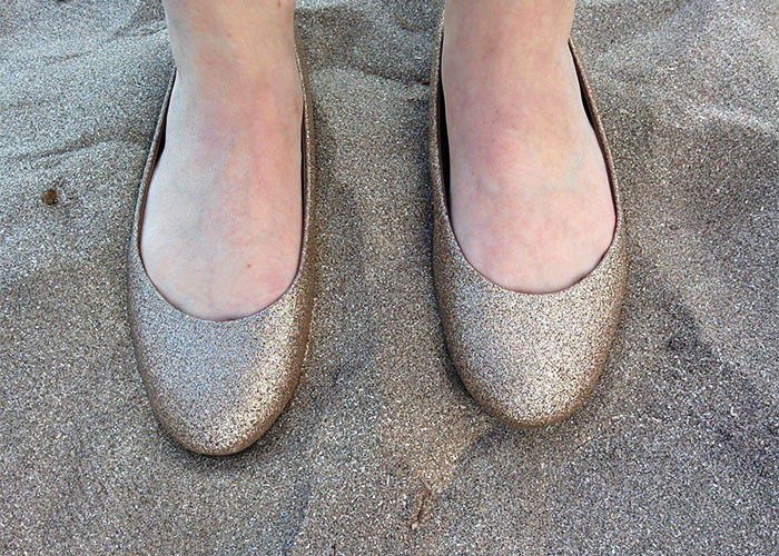 My Sparkly Shoes Blend In With The Sand
