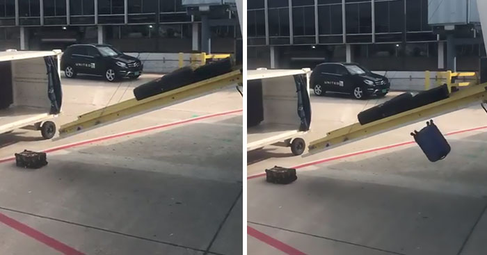 United Airlines Passenger Films How Terribly They Handle Luggage, And It Escalates Quickly